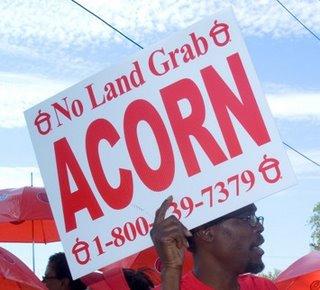 ACORN's stance before receiving Ratner cash
