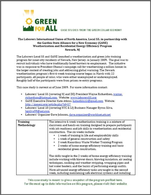 GreenForAllprogram