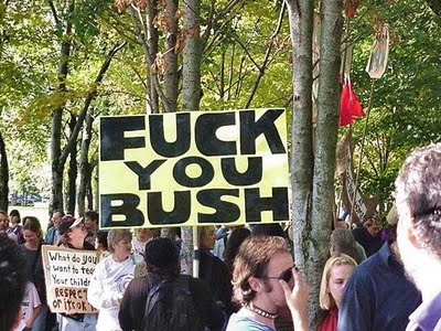bush protest fu