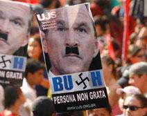 bush_protest nazi